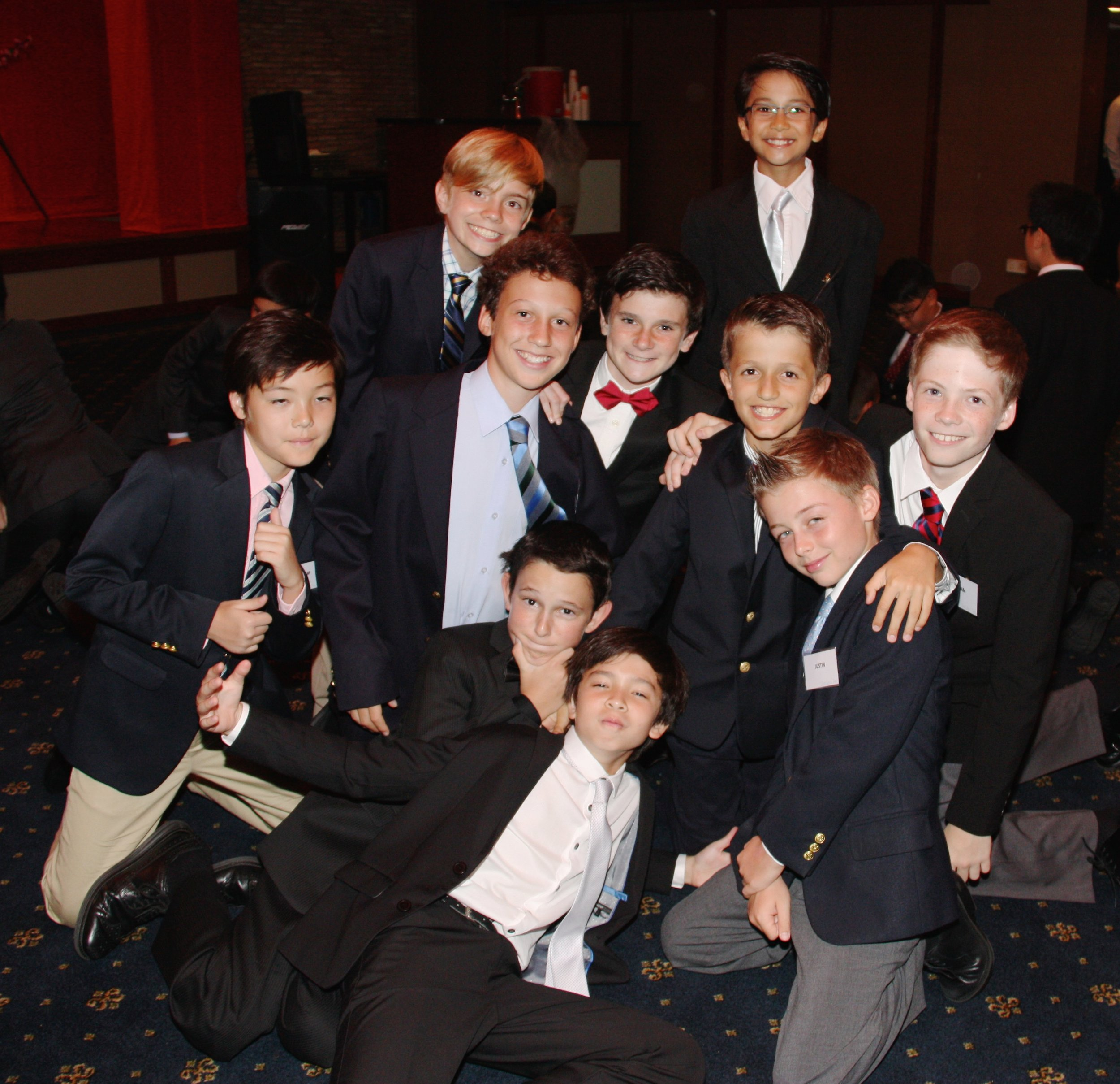 Our 6th Grade boys, dressed to impress.