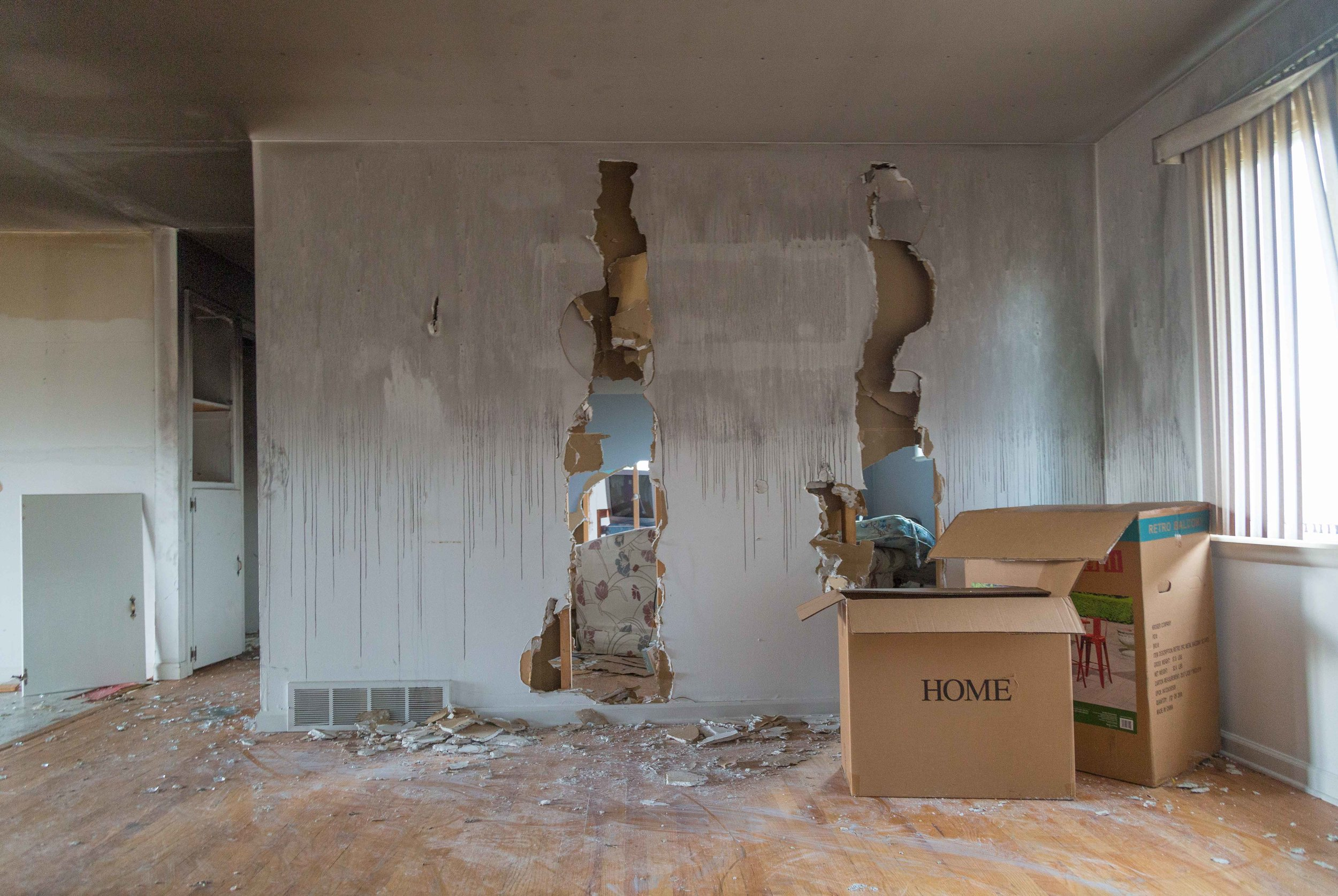Untitled, 2017  ( Home Wrecked Series):archival pigment print