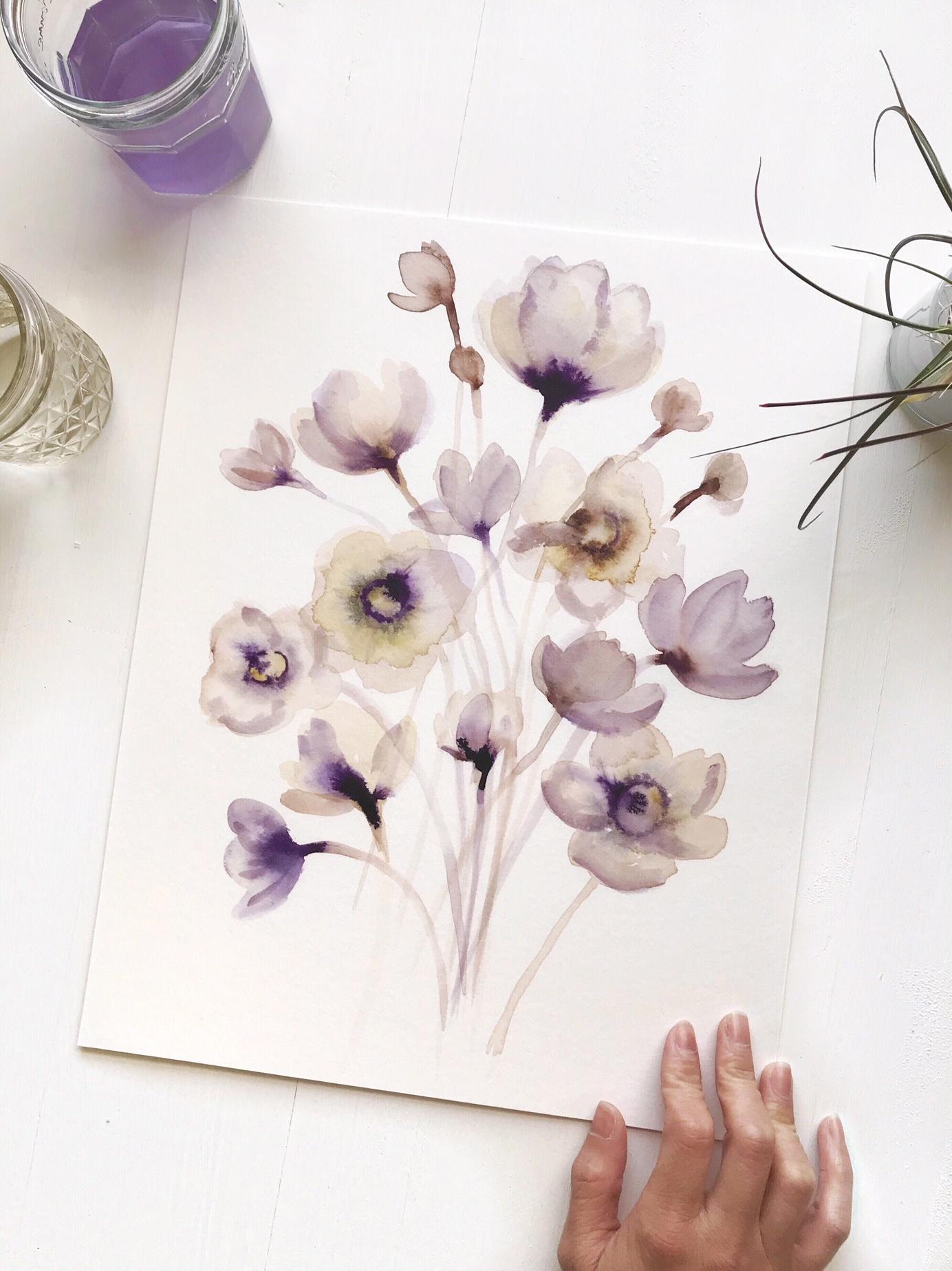 Tender Blooms -  Art Print