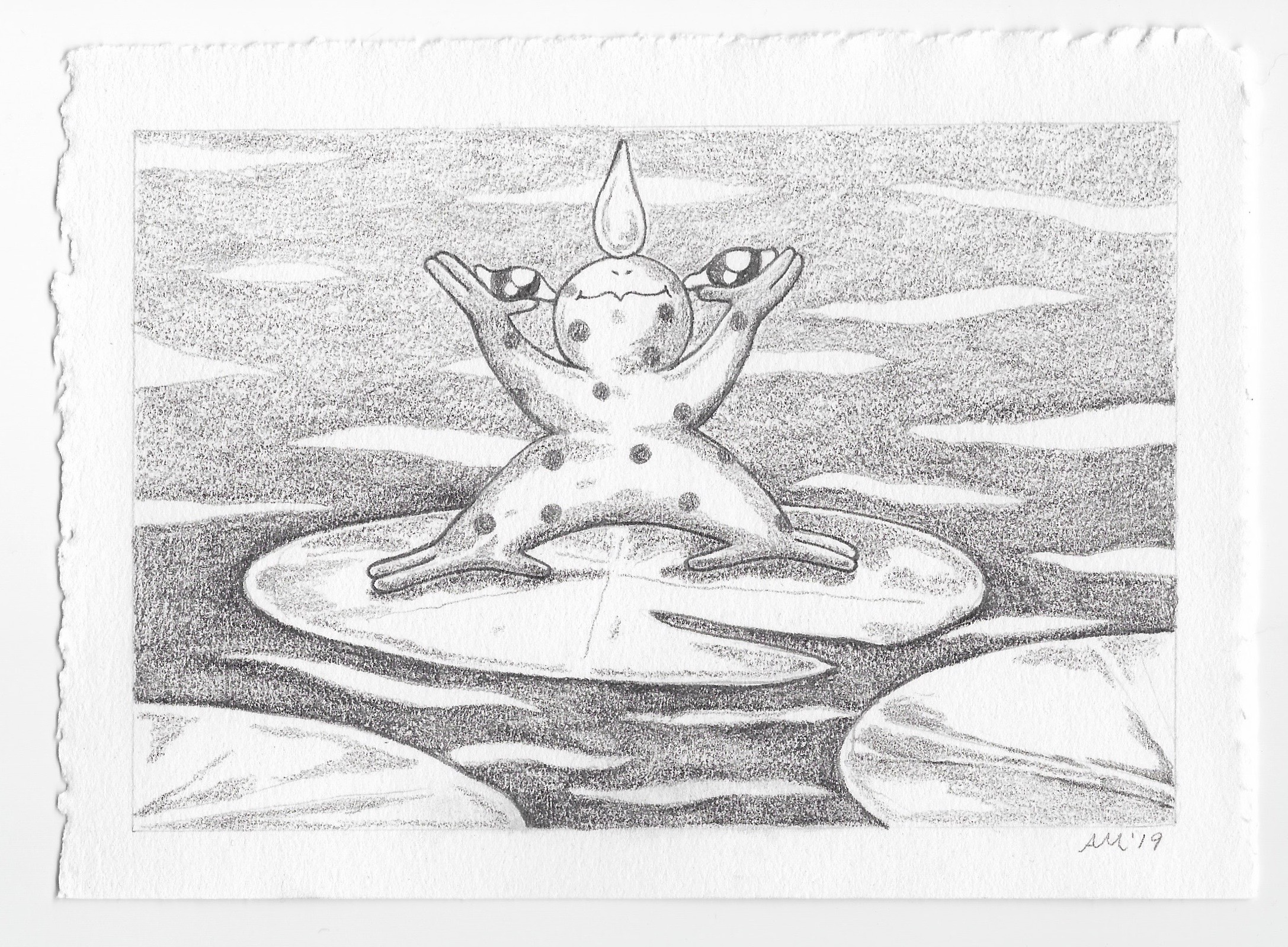 """- The First Summer Froggraphite6.75x4.75""""2019"""