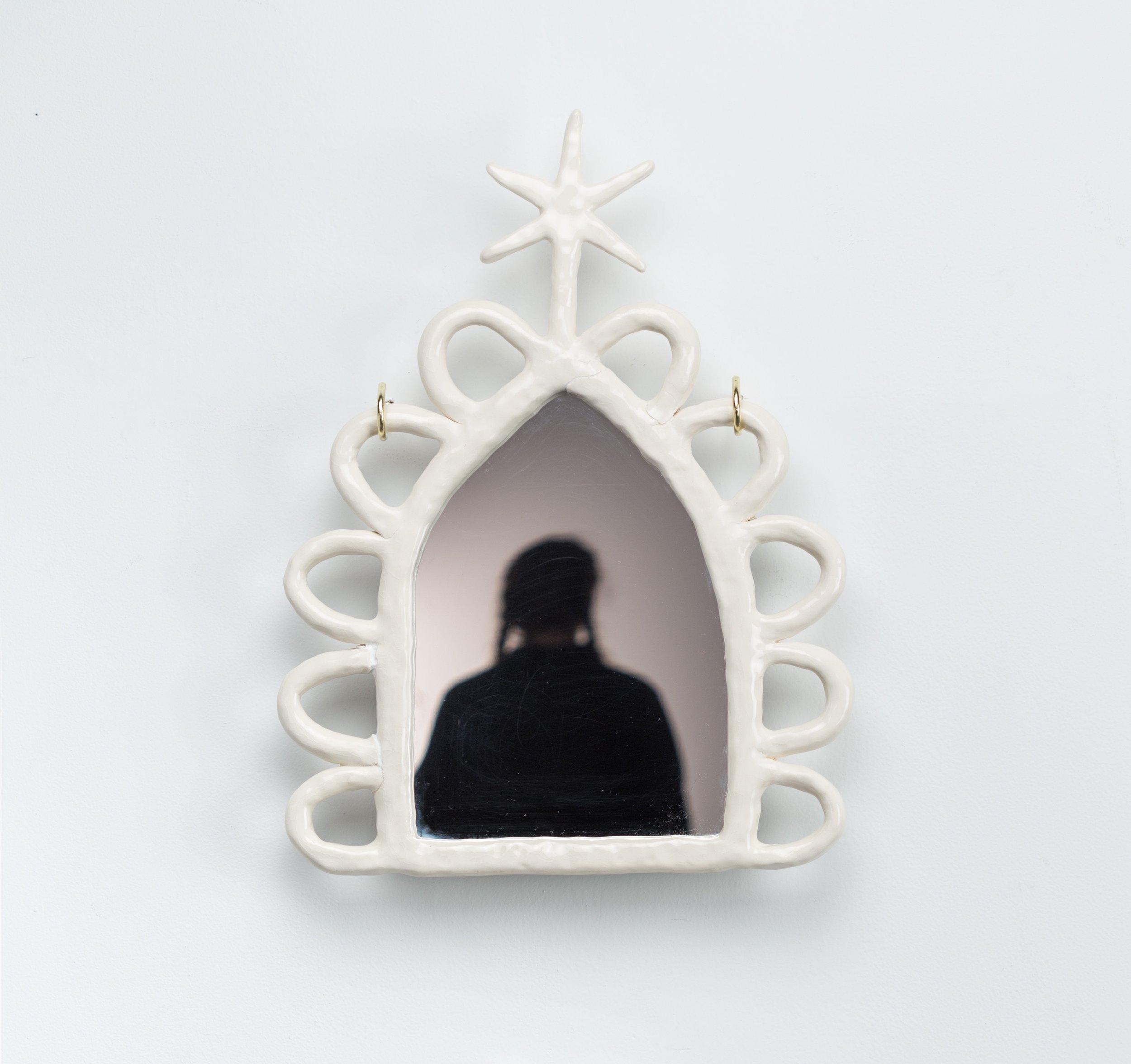 "- Mirrorporcelain frame, glass mirror12x16'""2017"