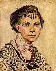 Anne Goldthwaite . Self-portrait. This work is in the public domain in its country of origin and other countries and areas where the copyright term is the author's life plus 70 years or less.
