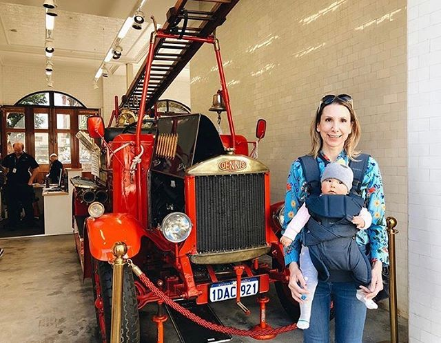 @sandy_anghie and her sidekick May-Lee stopped by the Fire Station Museum this week 🚒 so much to see and do right under our noses #historicheart #perthtodo