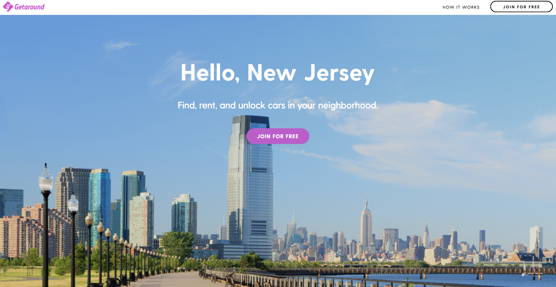 Getaround New Jersey Collections Page