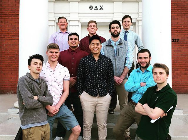 Welcome 2019 executive board. Cameron Bible, Alec Avitia, Billy Parten, Rico Tinielu, Drew Kossack, Sammy Seiler, Thomas Tobin, Cade Duval, Will Klobucar, and Drew Johnson
