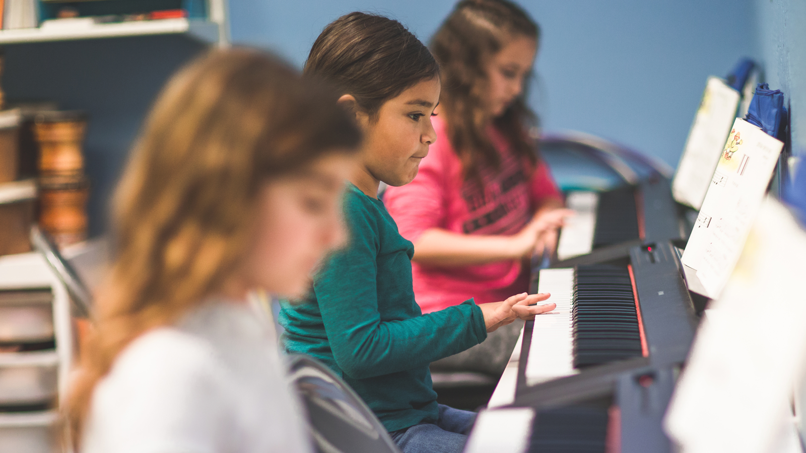 Small group Piano Classes - Monday session: 9am or 11:30am taught weeklyTuesday session: 9am or 11:30am taught weeklyHour long group piano classes limited to 3 students per class.Small classes means more focused instruction!Providing individual and group attention in each class.Piano Maestro Subscription (iPad app) included with class!Grouped by age (5-6 yrs) (7-9 yrs) (10-14 yrs)Opportunity to perform in school recital in DecemberCost $100 per month per student (Weekly 1 hour classes each month)$20 deposit to reserve space for your student.
