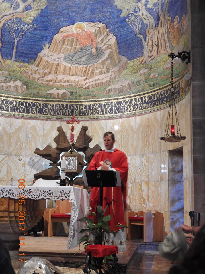 Mass at the rock of the Agony in the Garden