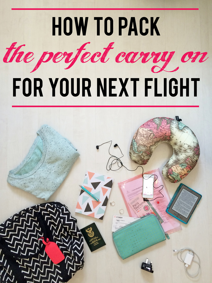 How to pack the perfect carry on for your next flight | What to pack for the flight, holiday and layover, and how to keep your hand luggage within the weight limit when travelling.