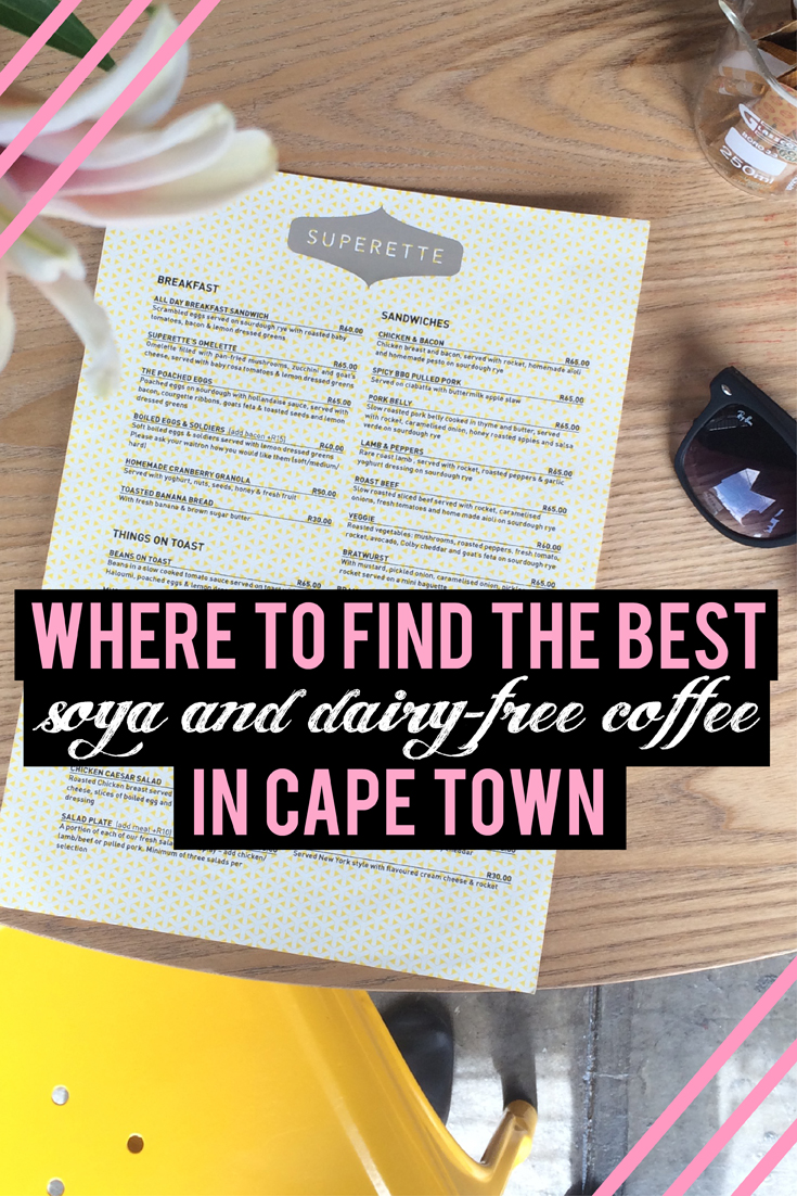 Vegan? Lactose intolerant? Just generally not a fan of dairy? Don't let your coffee pay the price. Find out which restaurants and coffee shops in Cape Town, South Africa serve dairy-free soya, almond or rice milk with their yummy flat whites and cappuccinos.