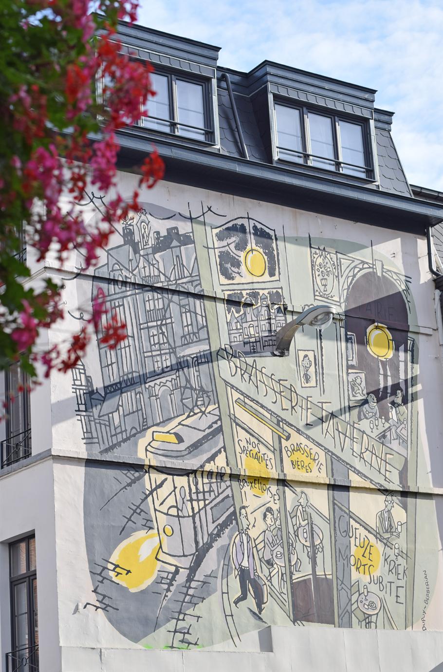 Brussels cute street art