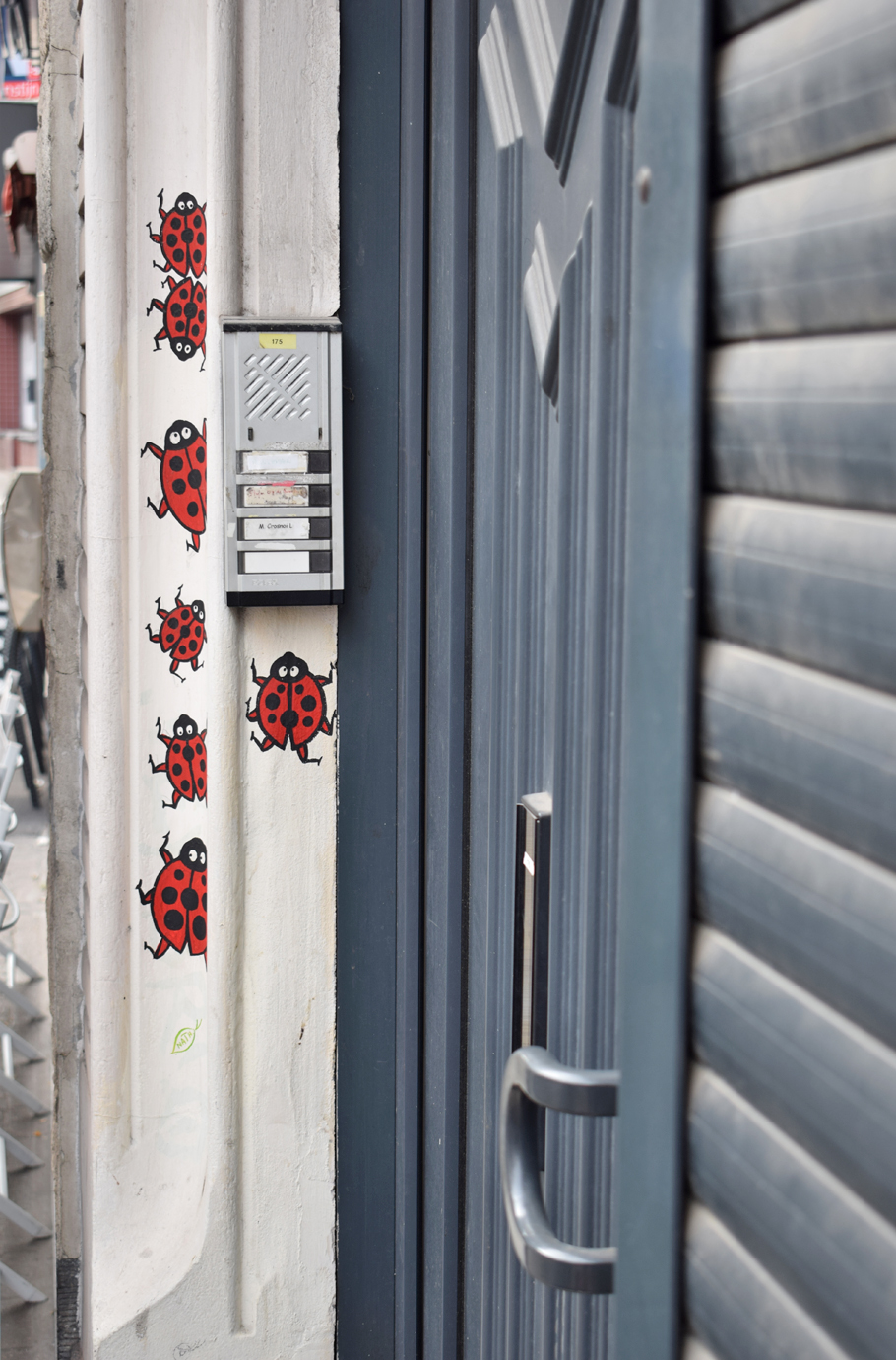 Brussels street art doorway