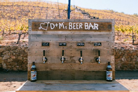 wedding beer bar