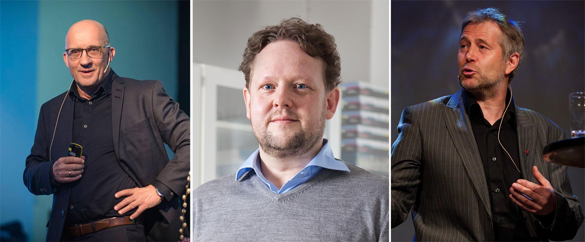 Trond Haukedal, Pål Molander og Arne Johannessen kjem alle på Vårseminaret i Norheimsund 4. april.