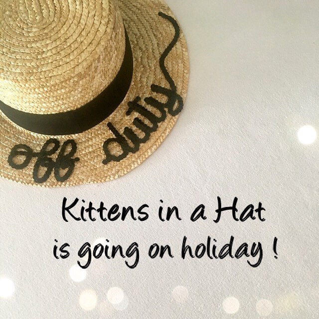Hi kittens!  Our production will be slowed down early August, please order your hats now and get them by the end of July !  Have a wonderful #friyay ✨