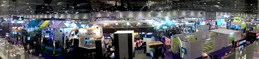 View of Bett, in London's Excel centre 2017