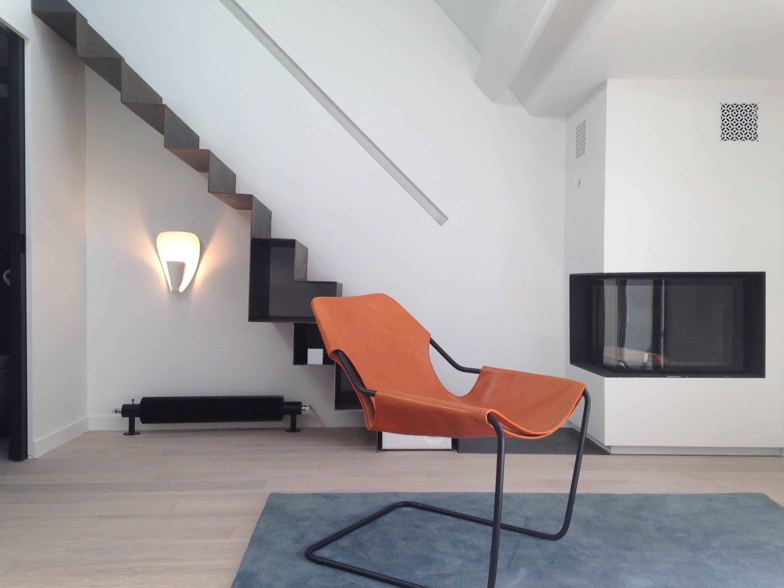 SERVANDONI - Restructuration complète et décoration d'un duplex sous les toits avec terrasse60m2 |75006 |Livré en juin 2014