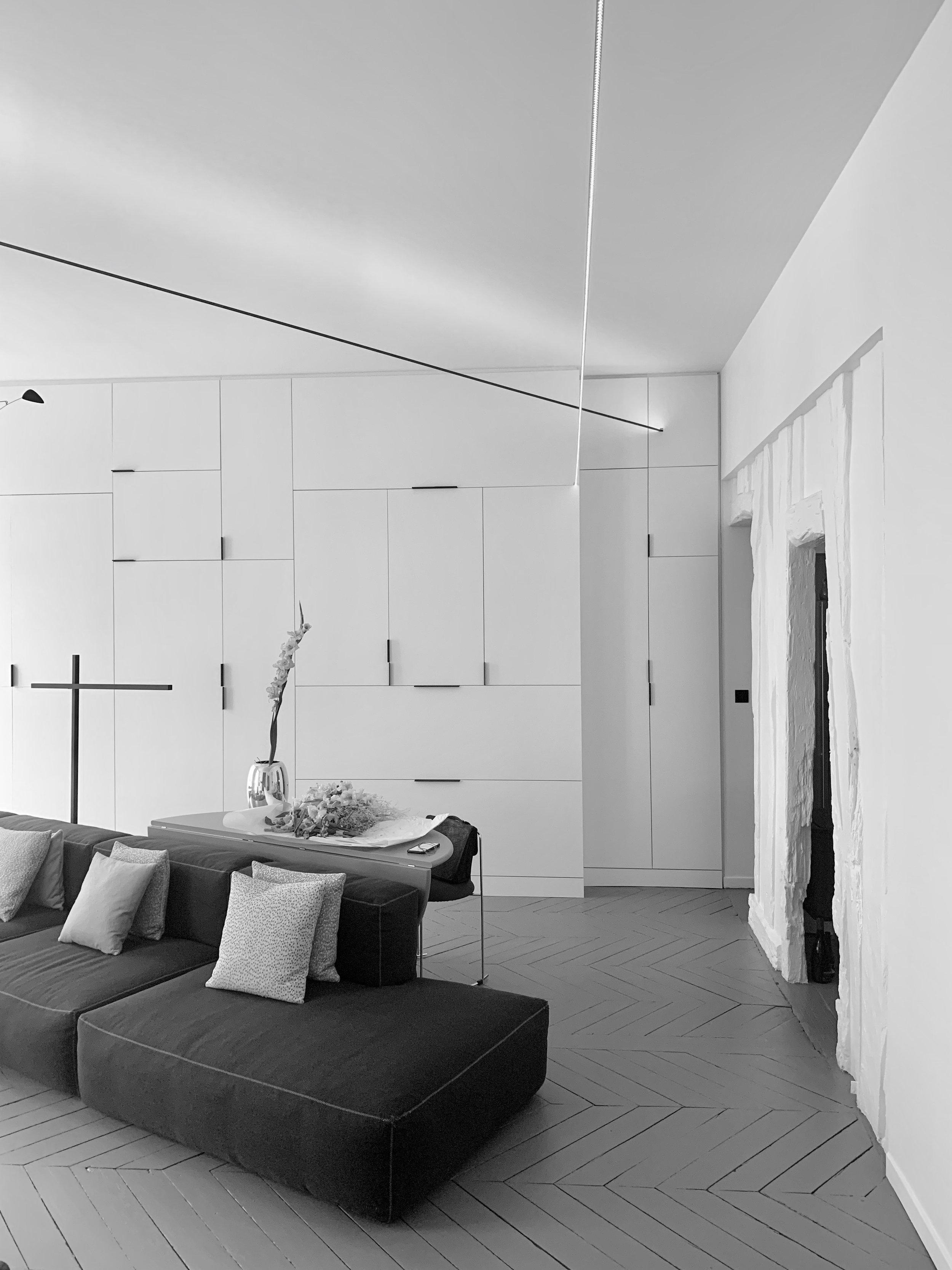 BOIELDIEU - Aménagement d'un salon privé30m2 | 75002 | Livré en juillet 2018
