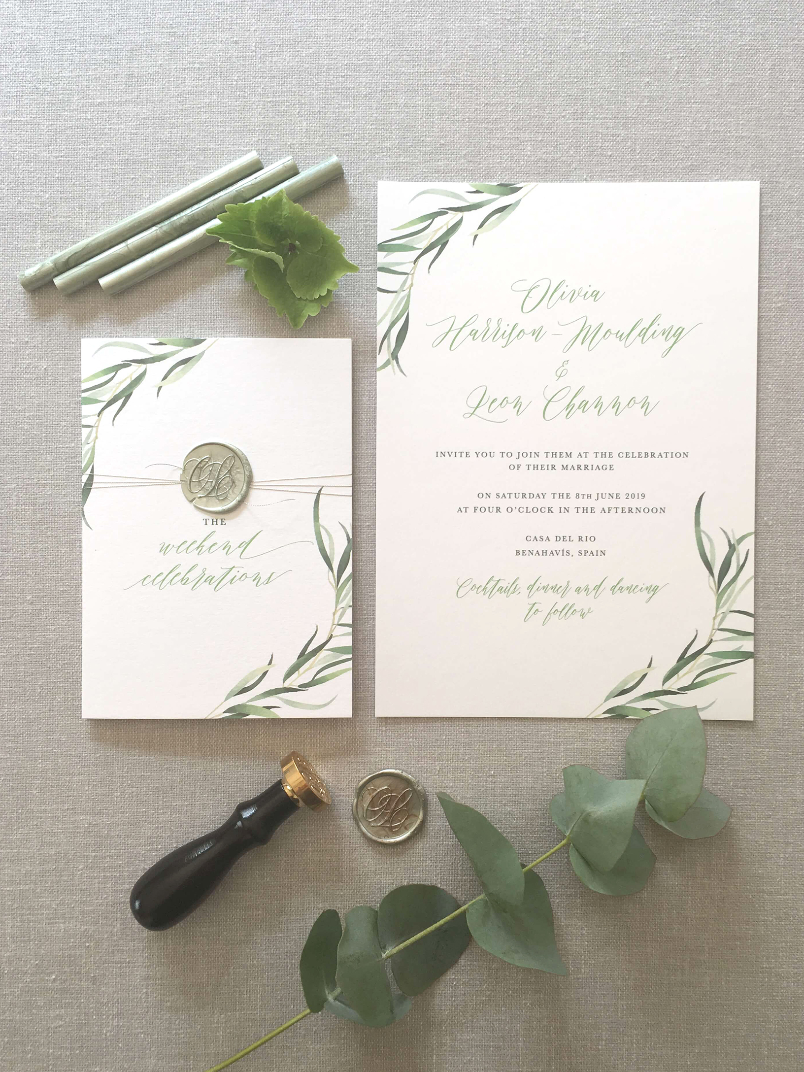 casa_del_rio_botanical_green_wax_seal_calligraphy_wedding_stationery_01.jpg