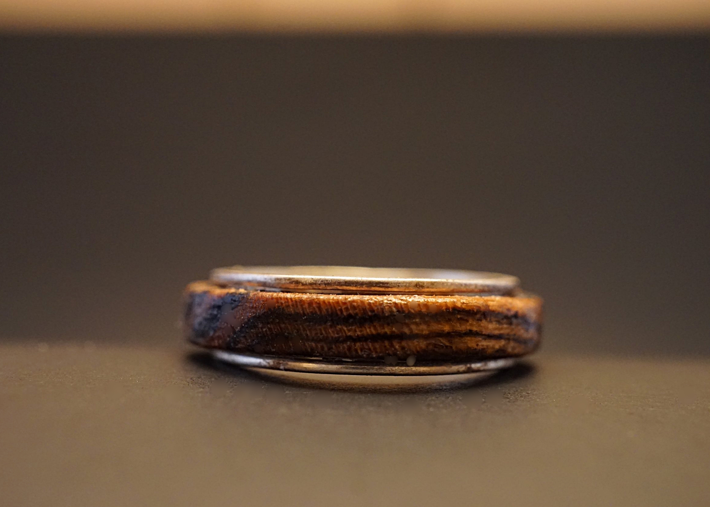 Bocote wood spinner ring