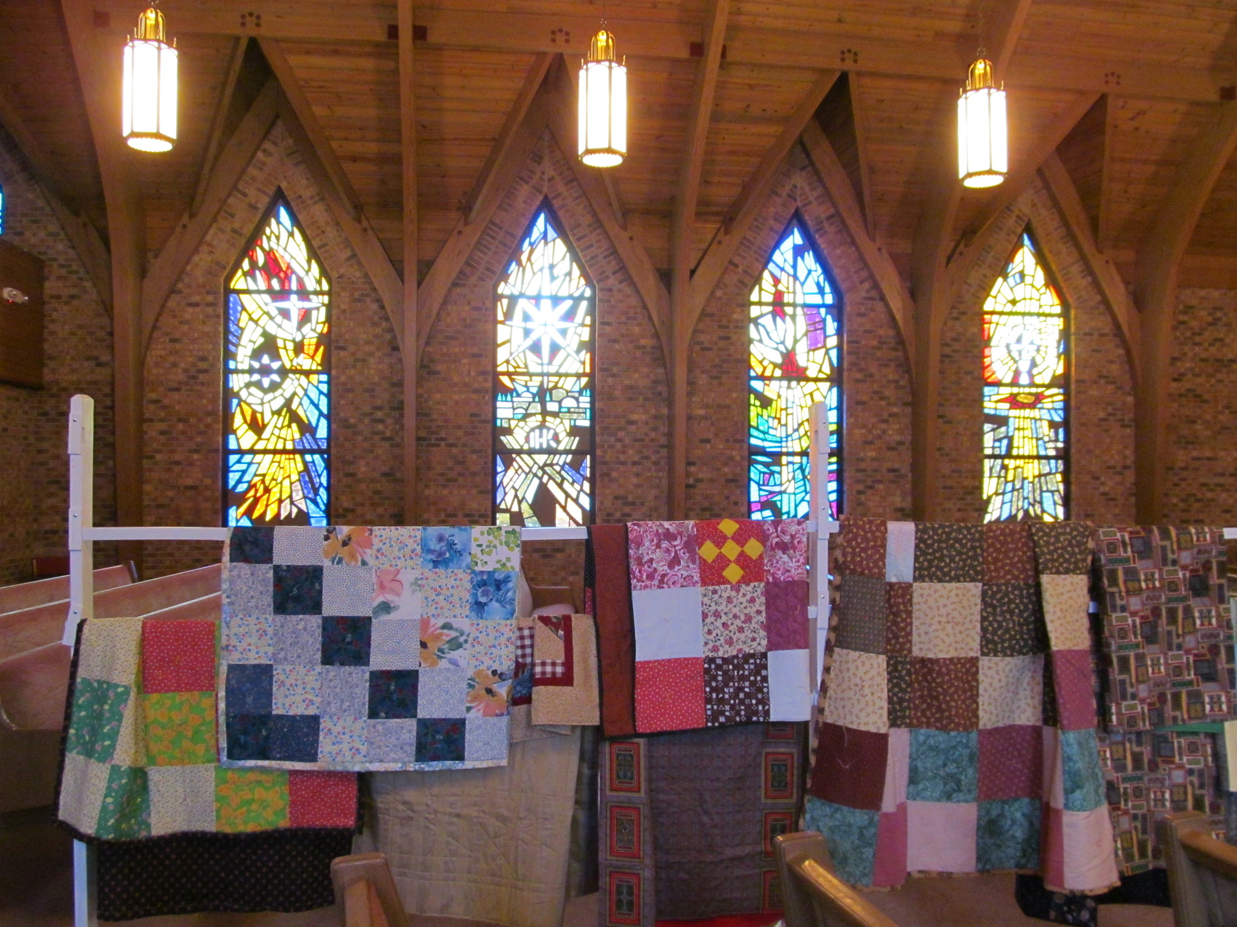 Quilts Made by OSLC Members for LWR