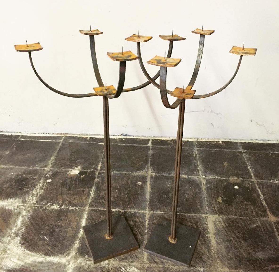 Handcrafted Metal Candelabras