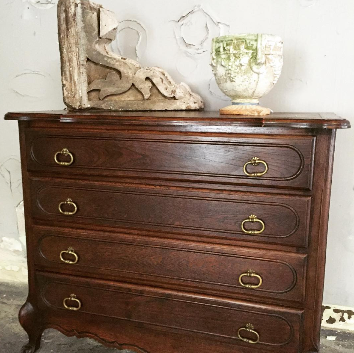 Dark Oak Antique French Chest