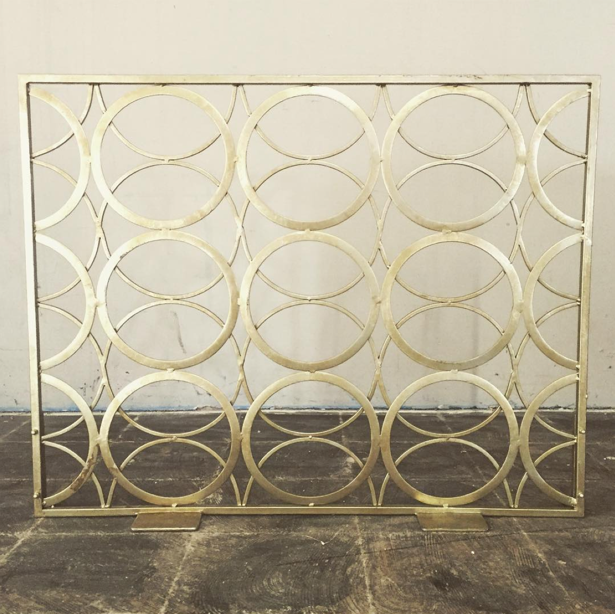 Screen with Champagne Gold Finish