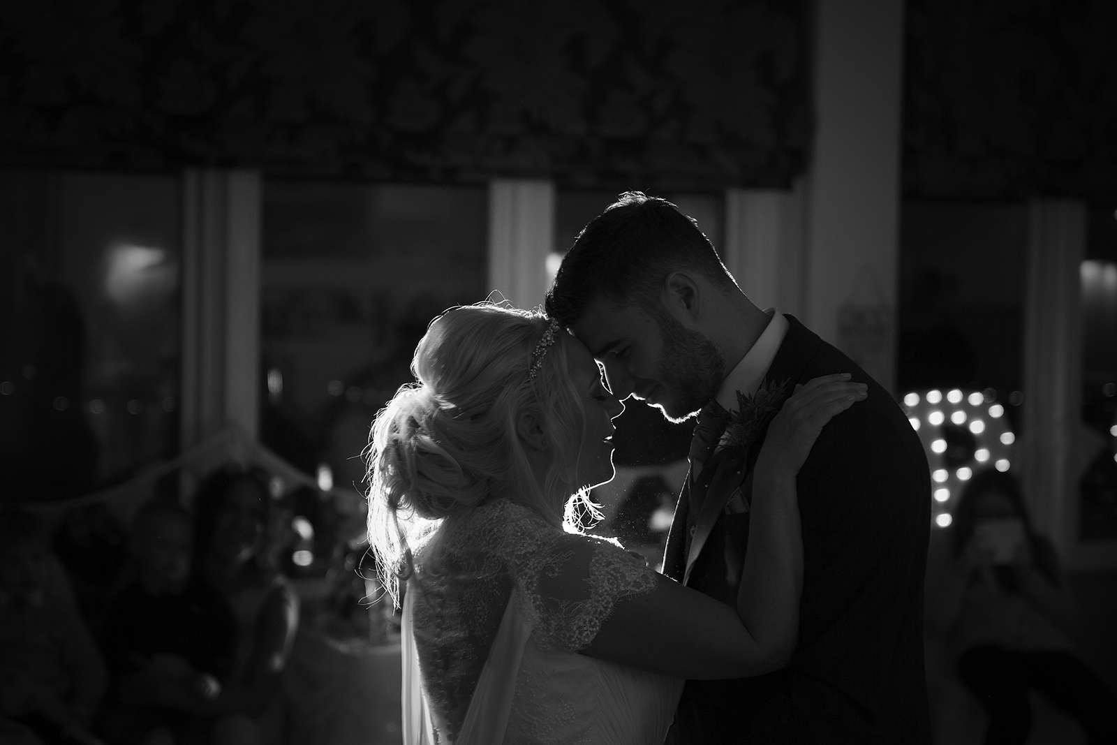 First Dance wedding photography, taken at the St Ives Bay Hotel, St Ives, Cornwall