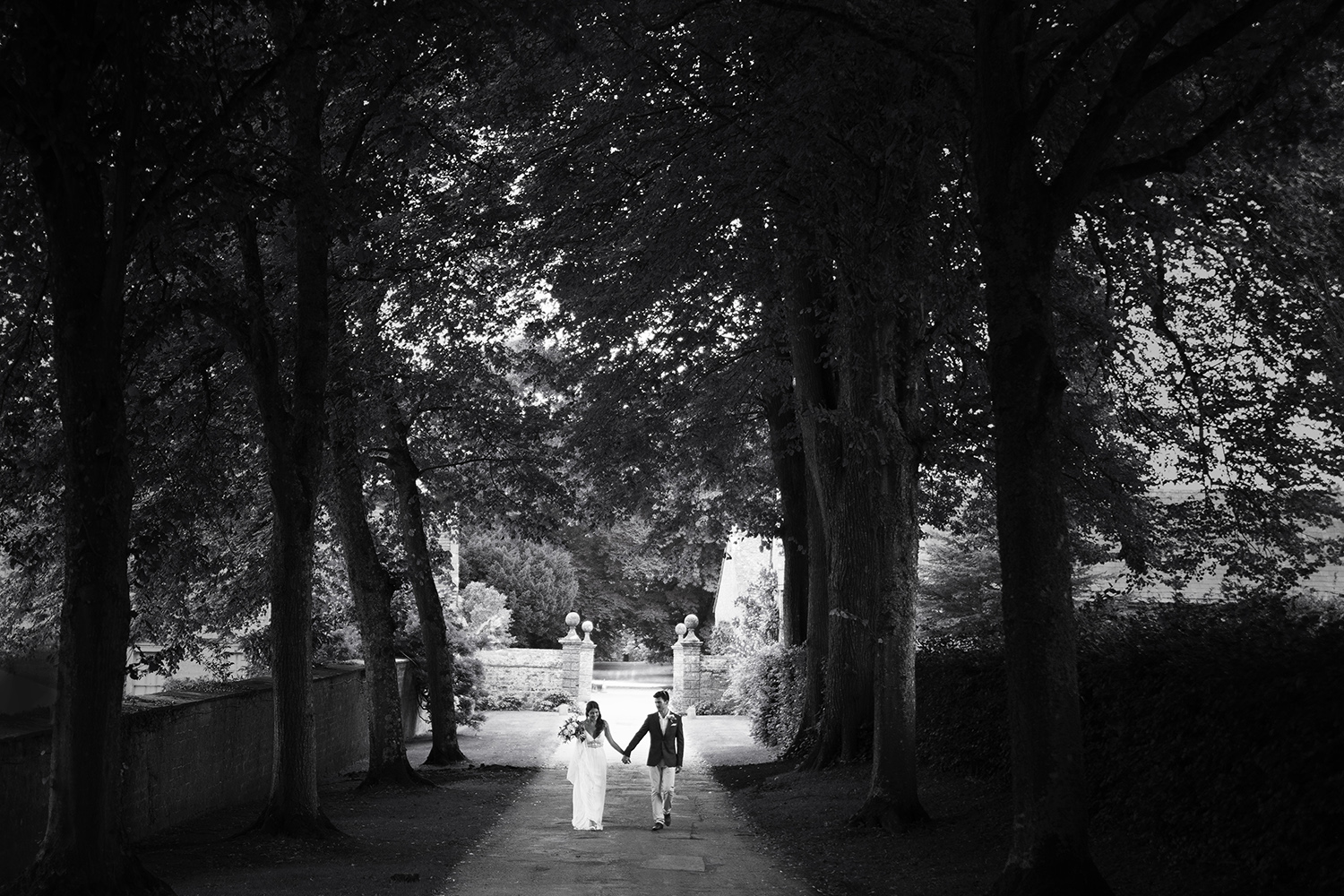 Wedding photography from a wedding at Mapperton House, Dorset.