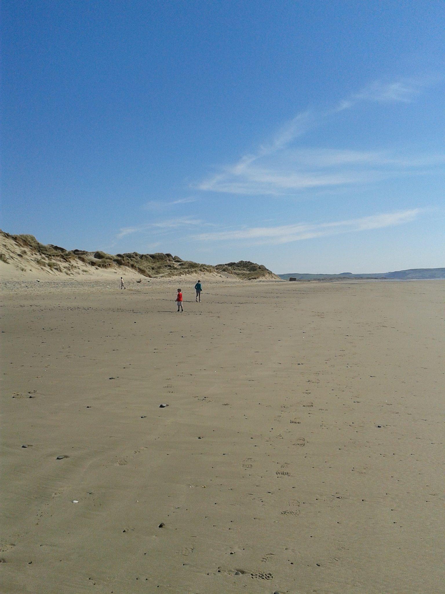 Aberdyfi Beach and dunes