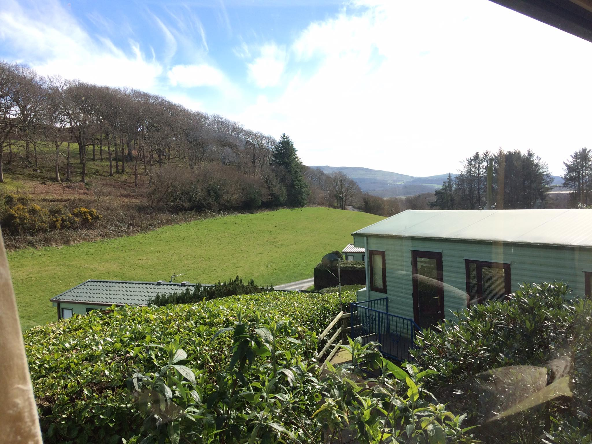 Static Caravan view of Dyfi Valley