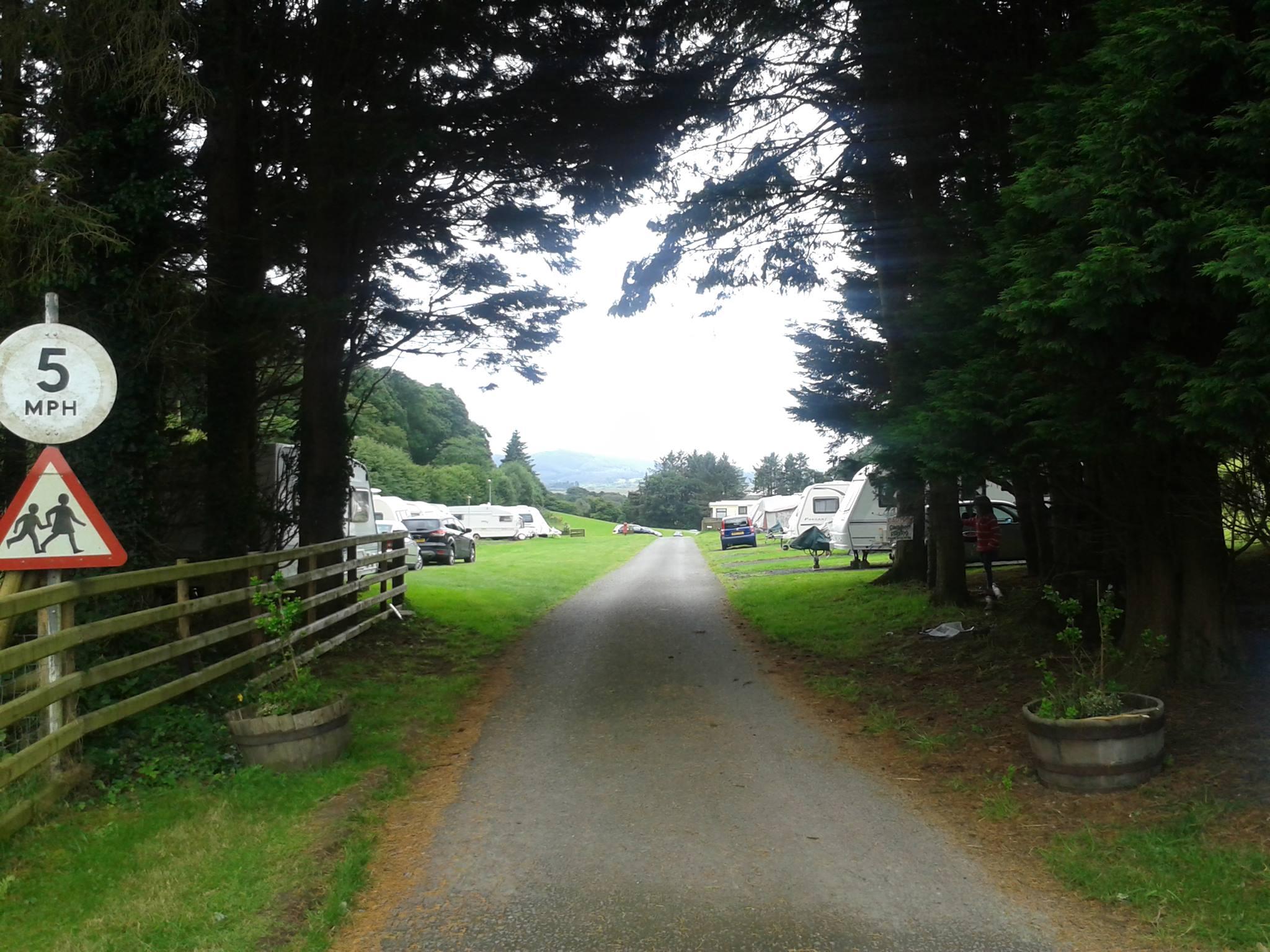 Cefn Crib Caravan entrance