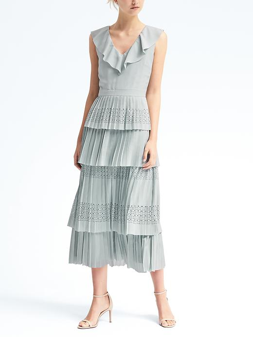 Banana Republic  £110 This is such a pretty dress, and a great price for the detail. Personally i would toughen it up with a chunkier heel, or go for a velvet shoe to add a bit more luxe.