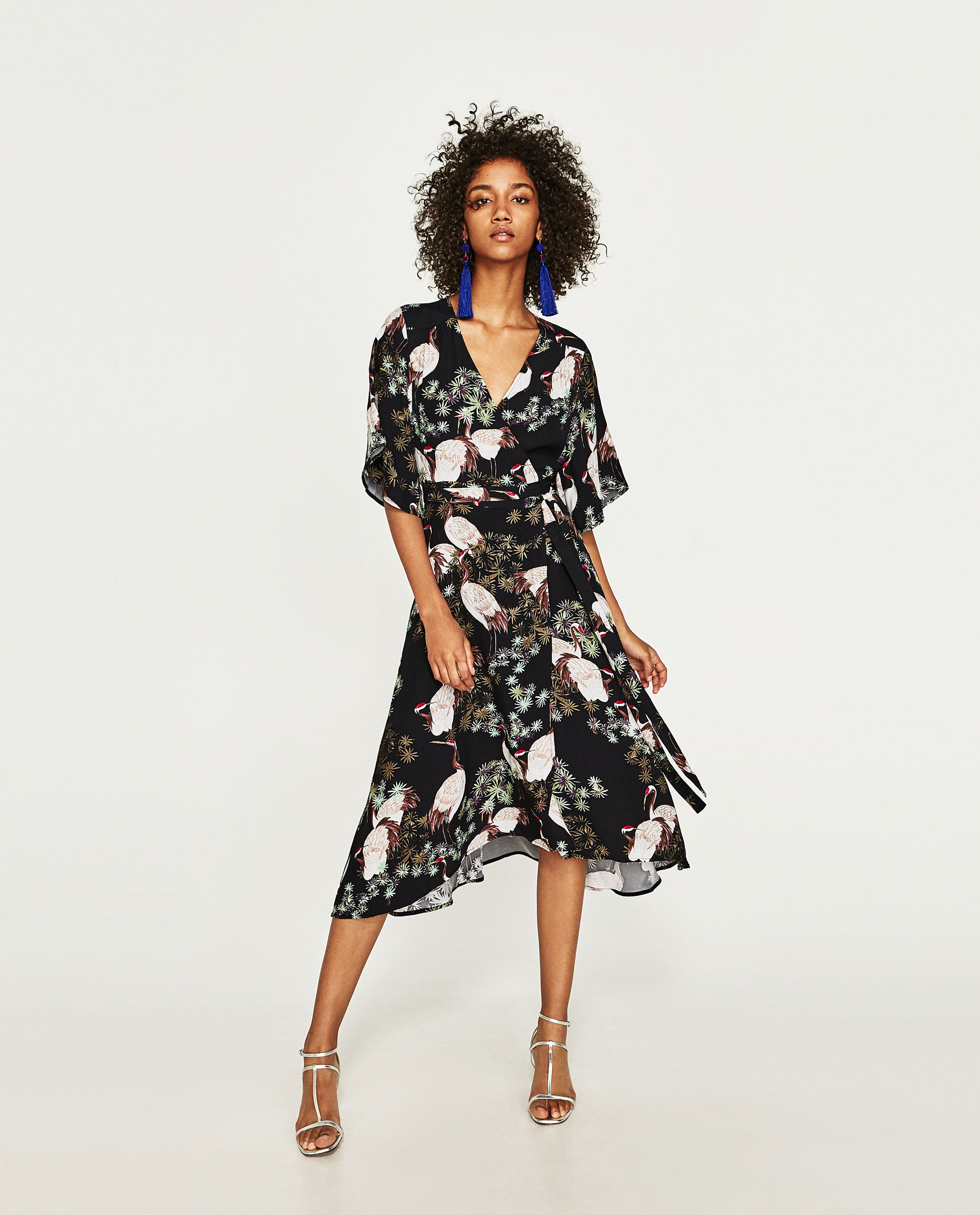 Zara  £59.99 this is such cool bird print i couldn't resist adding it. Great with a white boyfriend blazer slung over and heels.
