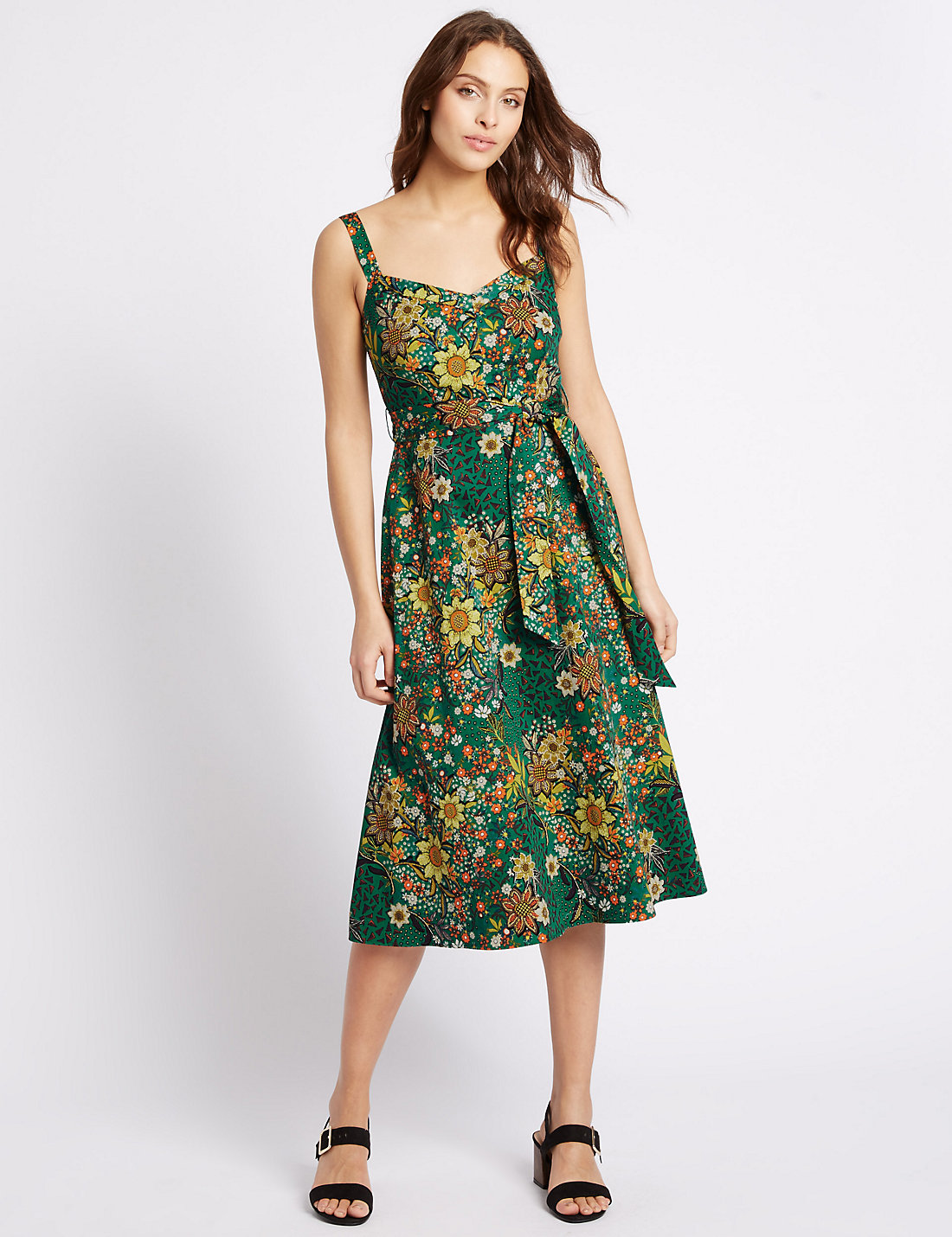 M&S  £55.00 such a cute dress. Reminds me of something from A Roman Holiday, you can really dress this up and run with a 50s vibe or keep it low key and natural for a casual wedding.