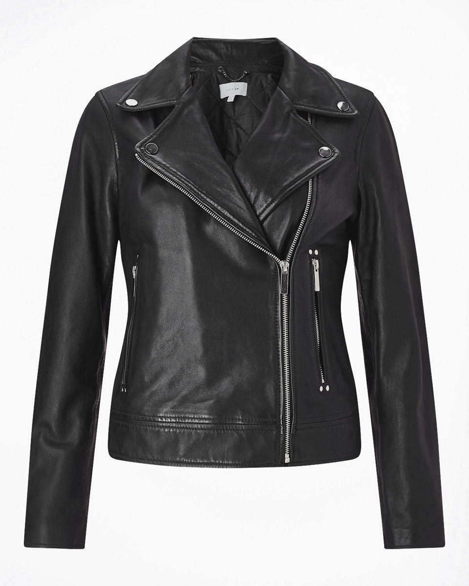 Jigsaw  £299 a softer more feminine biker style. Elegant, with a clean line yet still packs a punch and very reasonably priced for leather too.