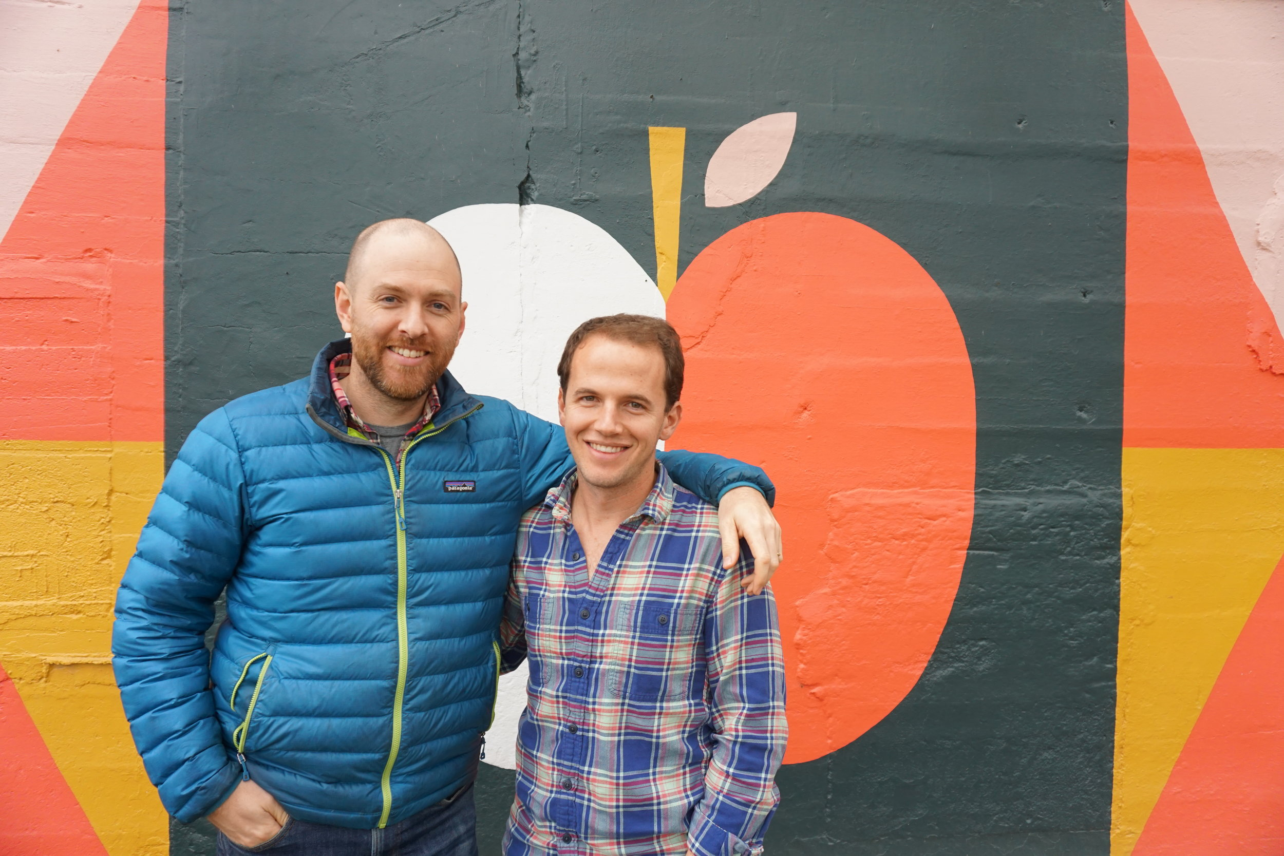Co-Founders of Shacksbury Cider Colin Davis (left) and David Dolginow (right)