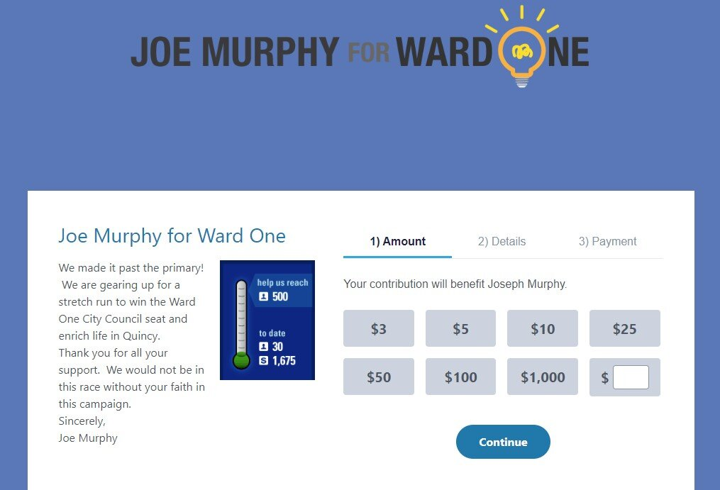 Click here to donate to Joe's campaign!!