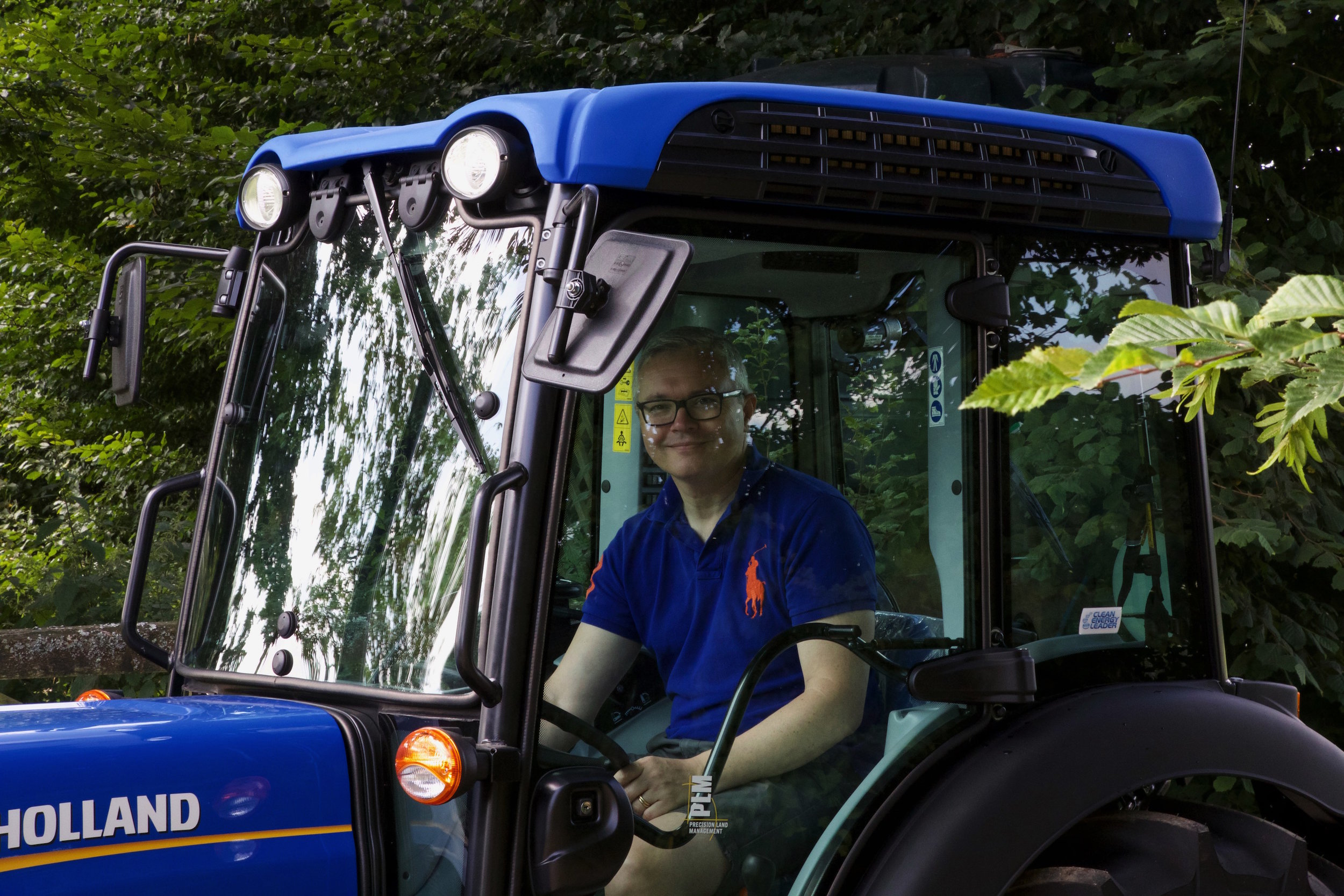 David in the tractor