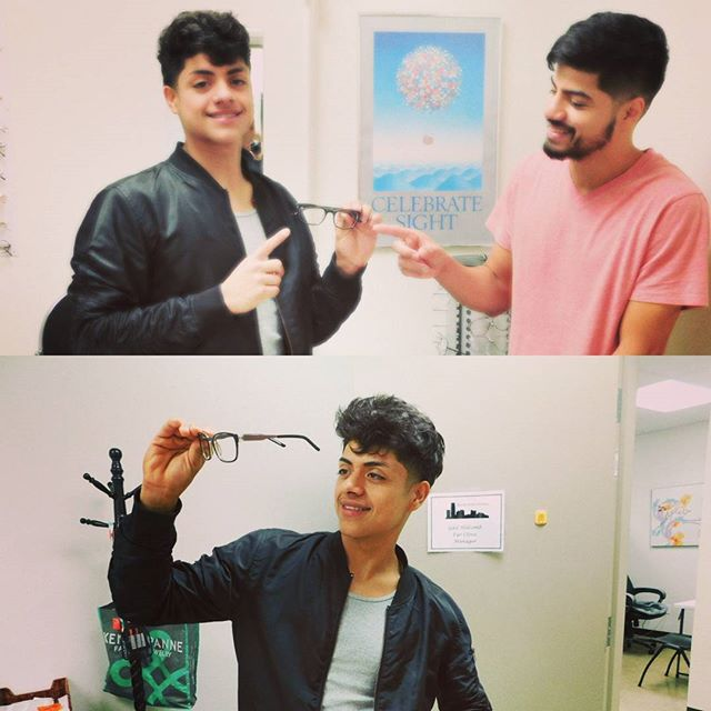 """These two brothers, Brian and Damien, visited the Eye Clinic to get an exam and pick up a pair of replacement glasses respectively. Brian had originally received glasses as a high school student and now that he has graduated, continues to use Skyline as an important vision resource. """"When I need to see, I come to Skyline!"""""""