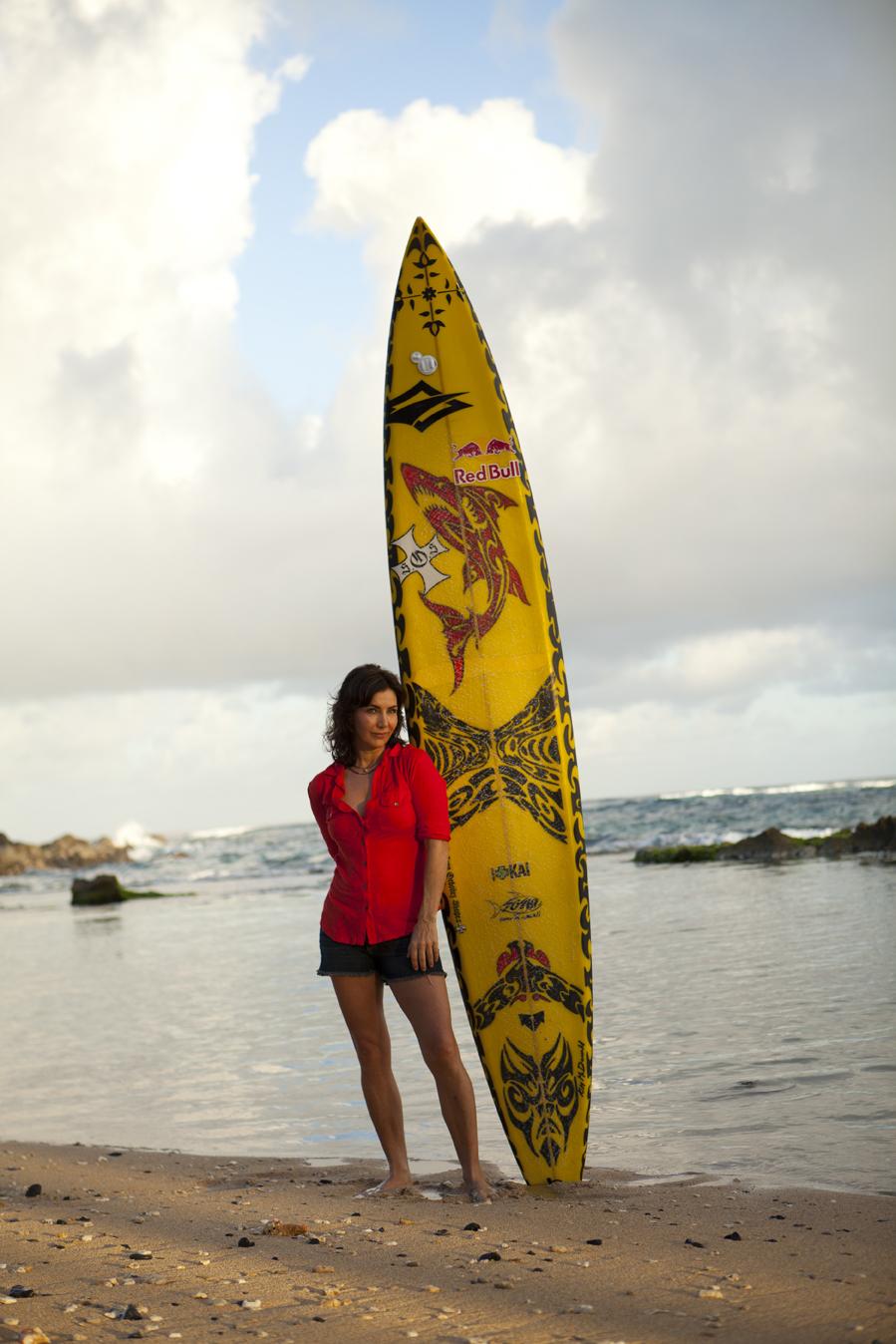 Kim McDonald surfboard for Kai Lenny, Kuau, Maui