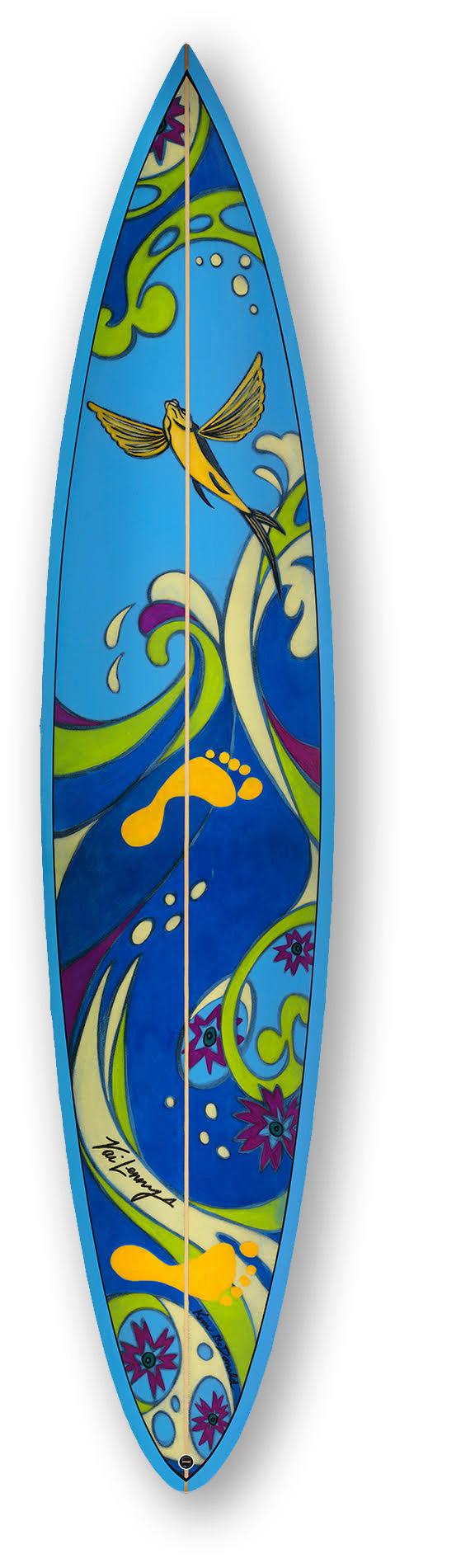 """North Shore: """"Heart & Soul"""" Size 7'6"""" Gun Surfboard"""