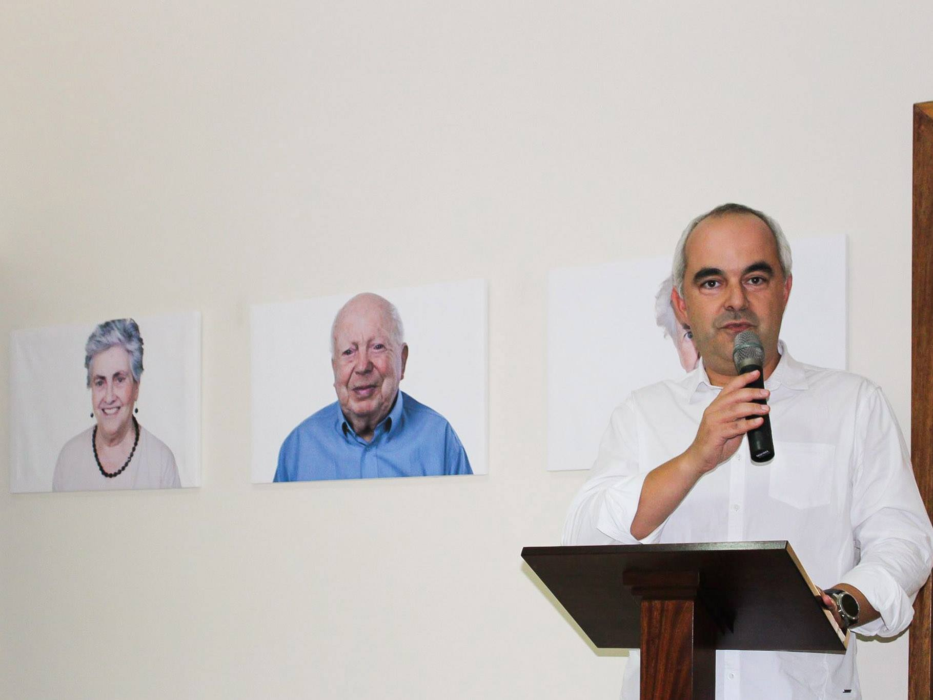 Durante a minha intervenção na abertura da exposição