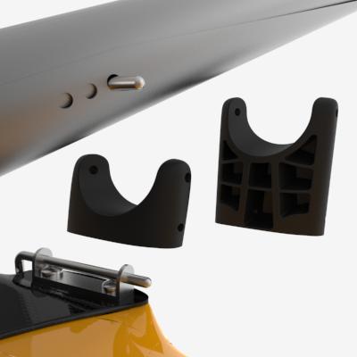 Løftet på vingene kan endres raskt og enkelt med støtter. Et pinne- system låser i ønsket stilling.