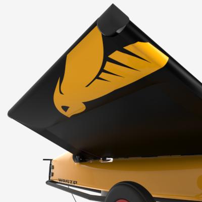 Trampolinen har en integrert flyteblære som gir lav luftmotstand, og positiv oppdrift for å gi en svært stabil plattform.