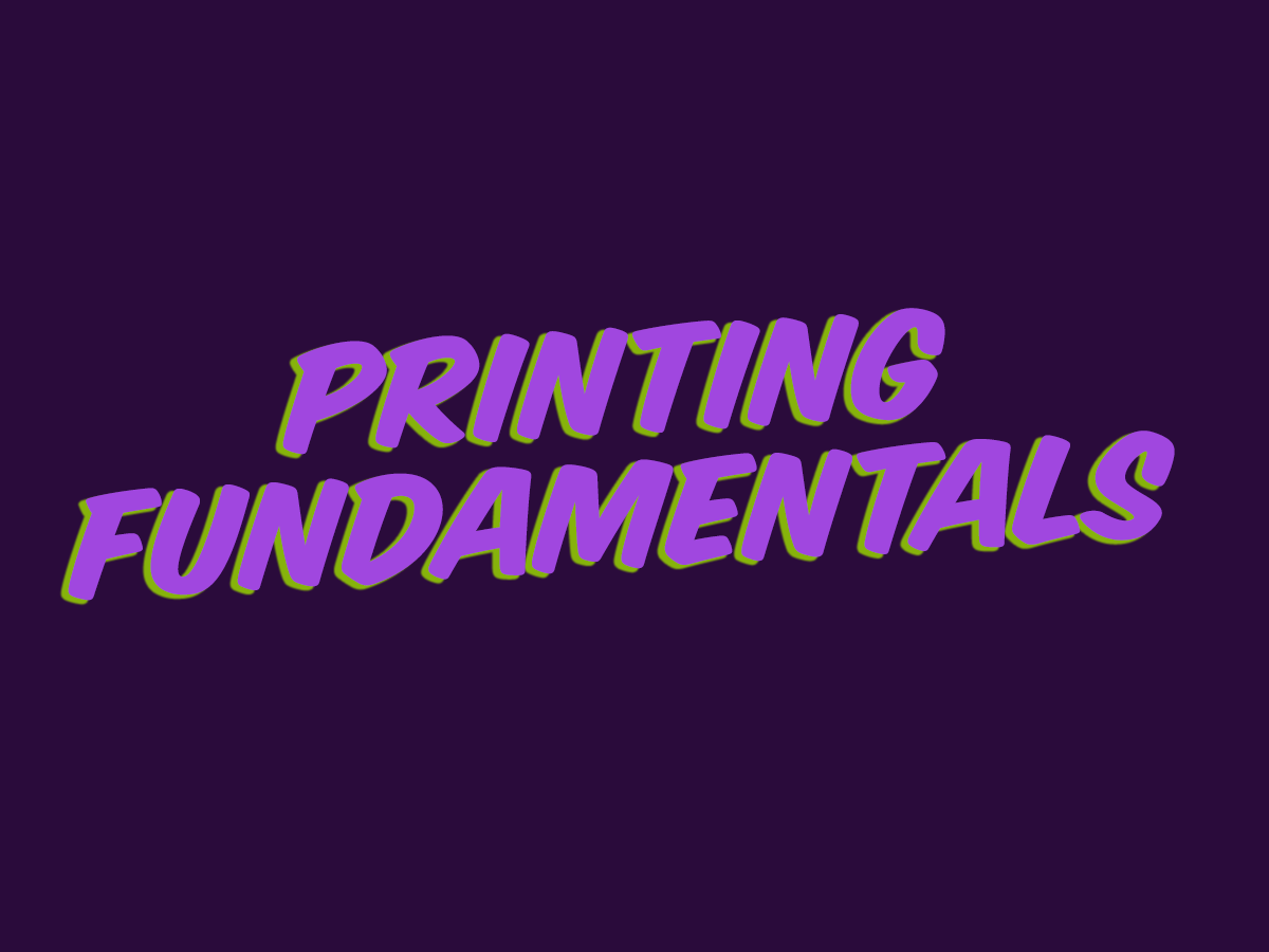 ART 1135 – Printing Fundamentals   This is a hands-on class in which students will produce actual printed items. Printing history, printing processes, terminology, art preparation, photo reproduction, prepress, bindery, paper, inks and related items will be covered.   Canvas Site  YouTube Videos  Slideshow Lectures   Resources from the Web