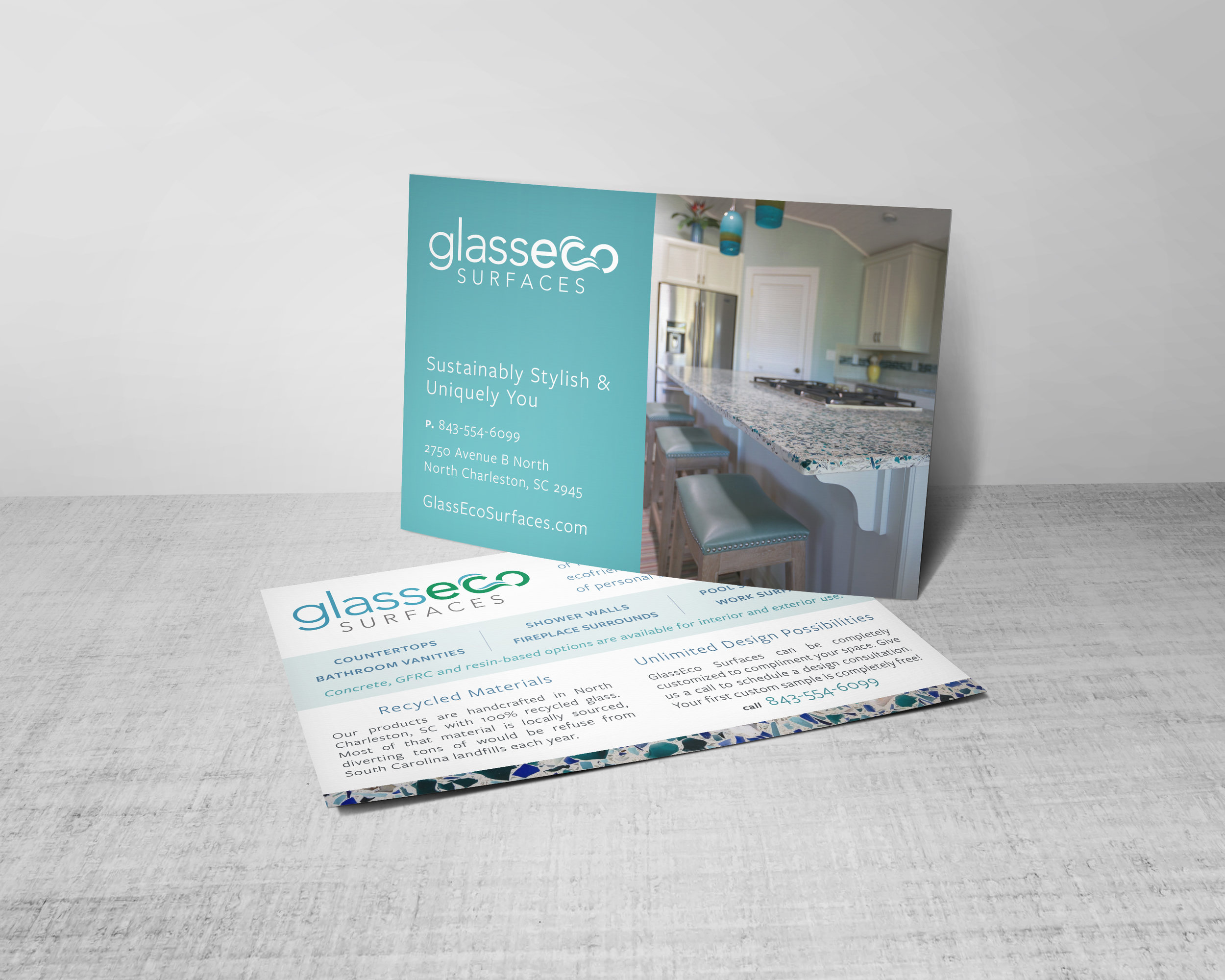 GlassEco Postcard Design
