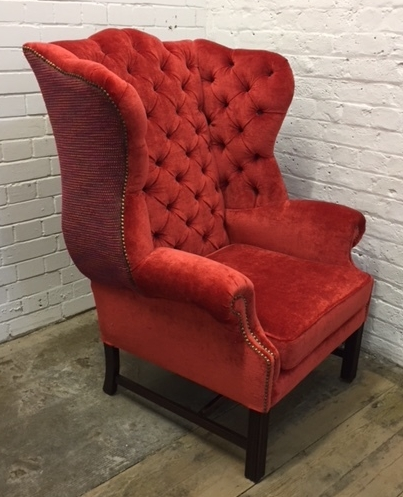 Coral Wingback chair finished