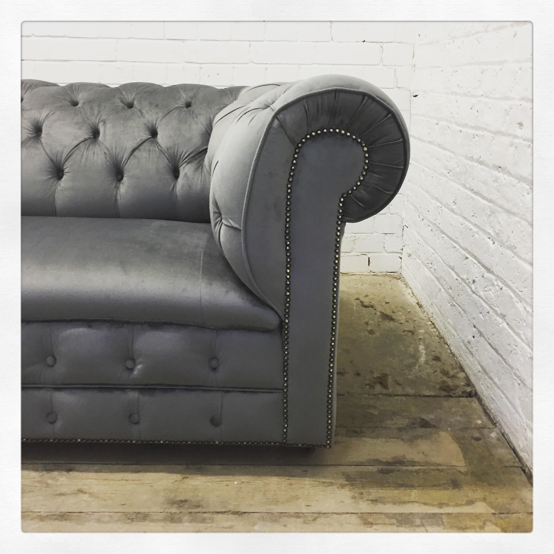 deep buttoned sofa
