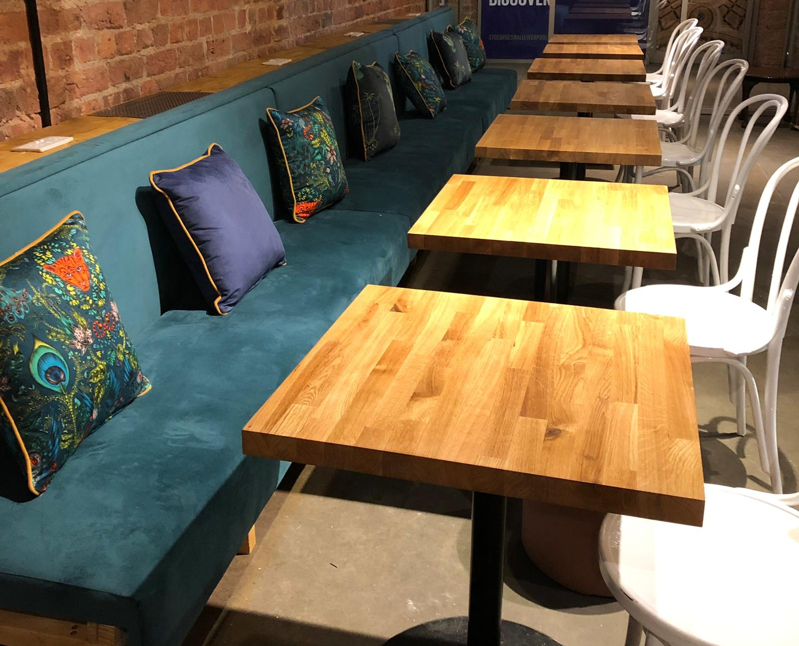 Commercial Bespoke Banquette Upholstery